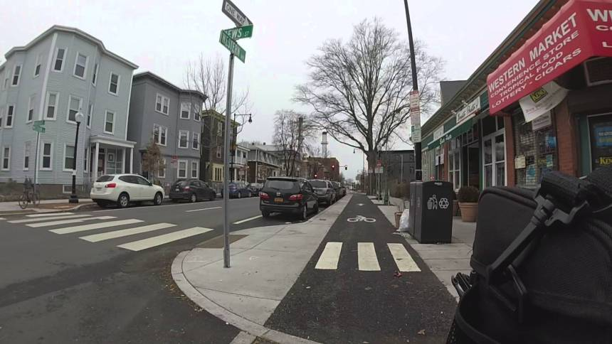 Western Ave in Cambridge was cited as one of North America's top 10 bike friendly projects.