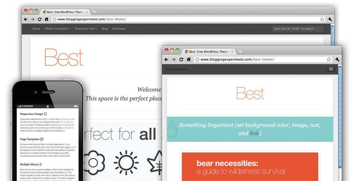 Best Theme Free Responsive WordPress Theme - best free wordpress templates