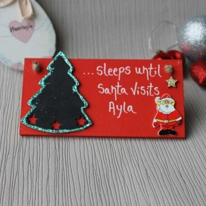 Santa Claus Festive Christmas Countdown Plaque