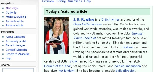 BlogHogwarts - JKR, Artículo Destacado en Wikipedia