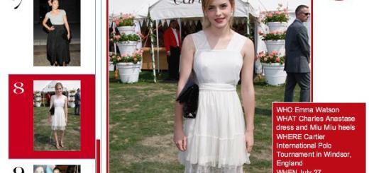 Emma Watson, entre las Mejores Vestidas de Vogue