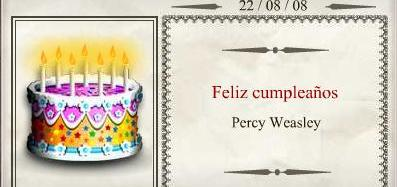 Cumpleaños Percy Weasley