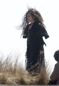 Hermione Granger transformada en Bellatrix Lestrange