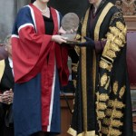 Author JK Rowling (L) is awarded a Benef