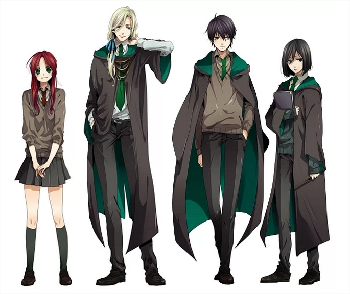 Anime Characters Hogwarts Houses : Así sería harry potter en versión anime hogwarts