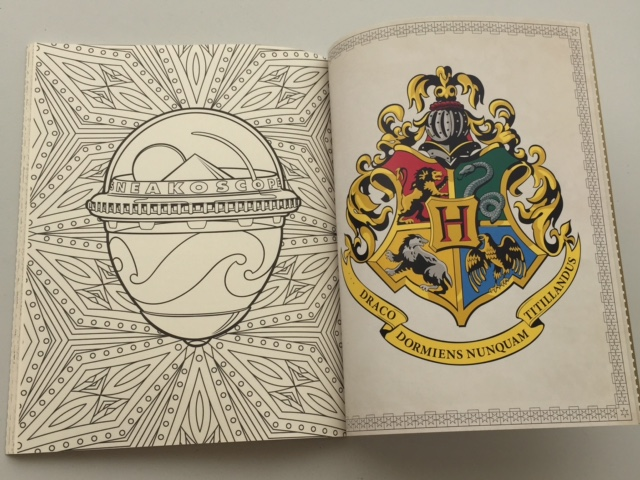 Libro Harry Potter 2016 Foto-reseña: Libro Para Colorear Oficial De Harry Potter