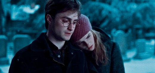 "DANIEL RADCLIFFE as Harry  Potter  and EMMA WATSON as Hermione Granger in the Warner Bros. Pictures' fantasy adventure movie ""Harry  Potter  and the Deathly  Hallows  - Part  1."""