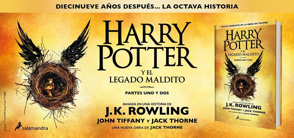 Ya puedes comprar 'Harry Potter y el Legado Maldito' en español!