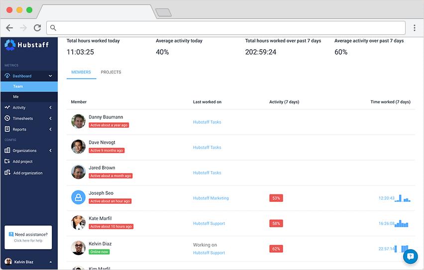 online hour tracker