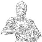 Desenhos incríveis de Star Wars feitos com somente uma linha