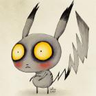 Pokémons no estilo Tim Burton