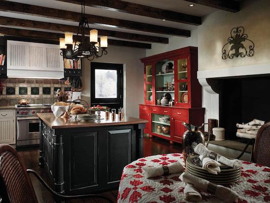 dapur bergaya retro