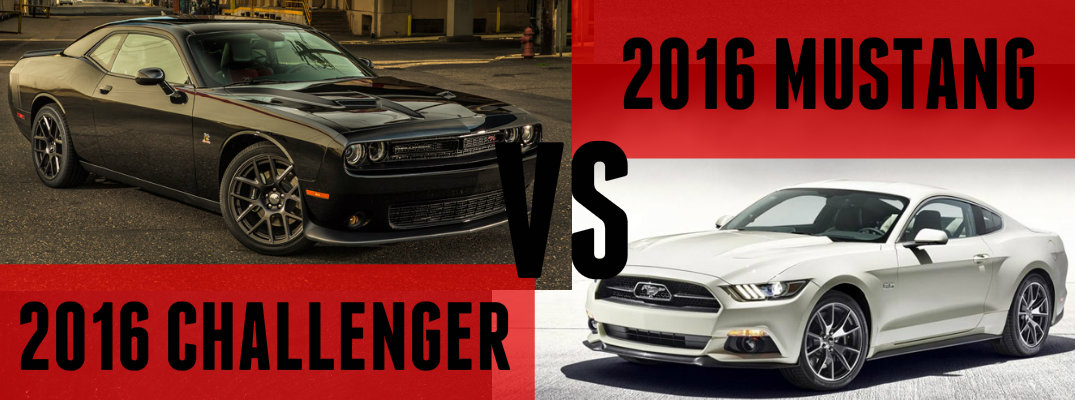 2016 Dodge Challenger vs 2016 Ford Mustang