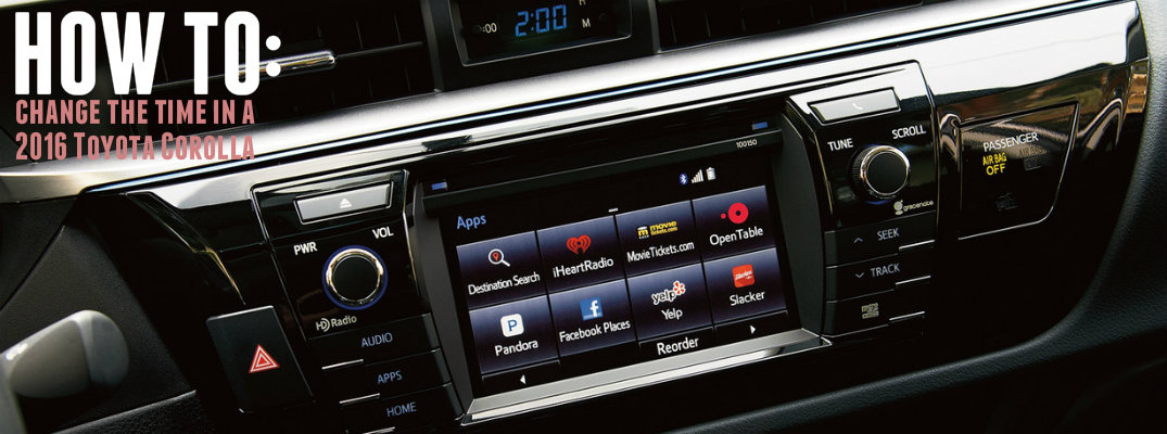 How to change the time on the 2016 Toyota Corolla digital clock for