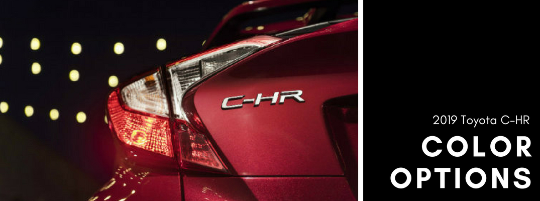 What color options are available for the 2019 Toyota C-HR?
