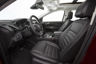 2017 Ford Escape front interior passenger space and new storage features_o - Brandon Ford