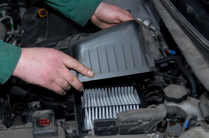 How often should I replace the engine filter in my Toyota?