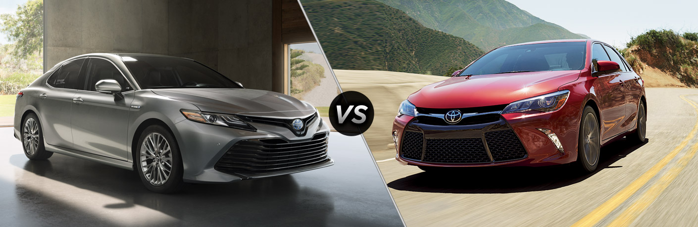Differences between the 2018 and 2017 Toyota Camry