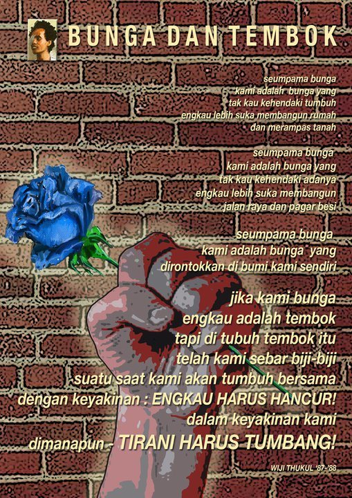 Creative handicraft best 6 of kumpulan puisi wiji thukul mar 2016