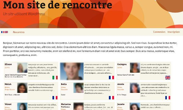 Template wordpress site de rencontre gratuit