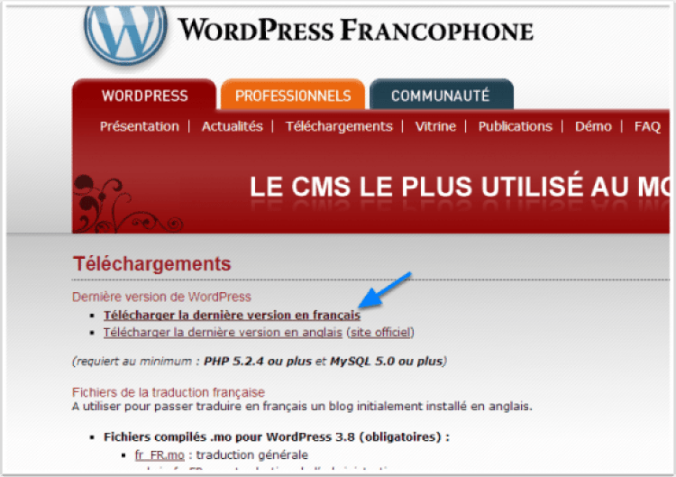 wordpress comment installer avec filezilla tuto