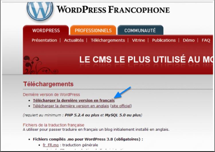wordpress comment installer avec filezilla tuto