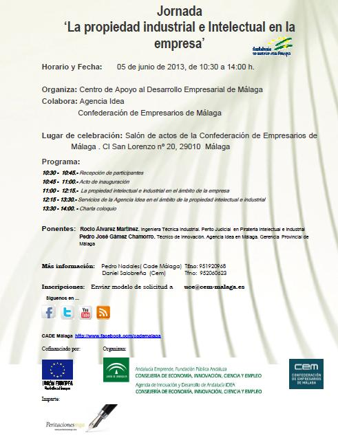 Jornada 'La propiedad industrial e Intelectual en la empresa'