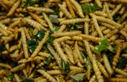 fried mealworms