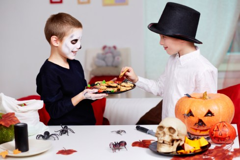 Sharing Halloween Treats