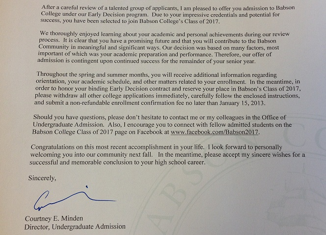 Early Decision Released Today! Undergraduate Blog All College Blogs - college acceptance letters