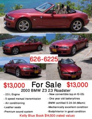 Freedom » For Mom, Love Steve - car for sale flyer