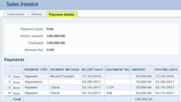 Order Entry Invoices \u2013 Printing Payment Details on an Invoice CLA