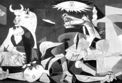GUERNICA (1937) BY PABLO PICASSO. OIL ON CANVAS.