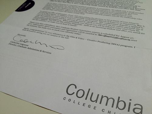 Acceptance Letters Marginalia - college acceptance letters