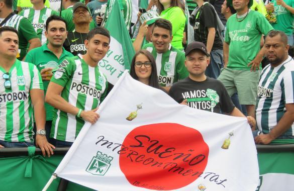 Projeto Yokohama da torcida do Atlético Nacional saiu do papel. Foto: Divulgação/Atlético Nacional