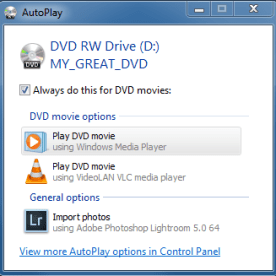 AutoPlay e
