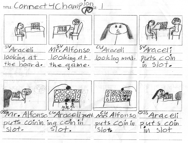 Script/Storyboard/Movie Araceli\u0027s Connect 4 Champion \u2013 EETT