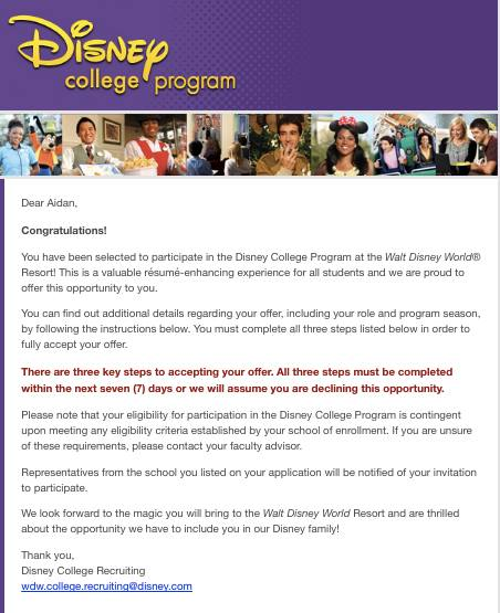 Moving from the 516 to the 407 Disney College Program; Spring