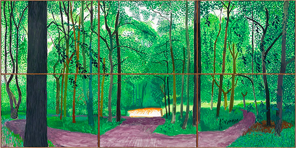 David Hockney in the Promised Land The Getty Iris