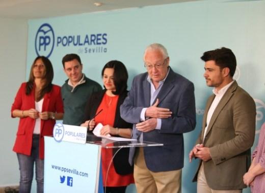 La presidenta del PP de Sevilla