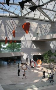 The National Gallery East Wing displays modern art like Andy Goldsworthy's