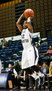 Graduate student guard Danni Jackson has been on fire in A-10 play, averaging eight assists per game. Hatchet FIle Photo