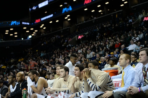 The Colonials made the trip to the Barclays Center in Brooklyn on Friday night, playing in front 8,755 fans. Samuel Klein | Photo Editor