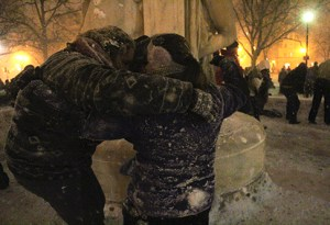 The second Dupont Circle snowball fight of the year will occur at 2 p.m. Hatchet file photo by Charlie Lee.