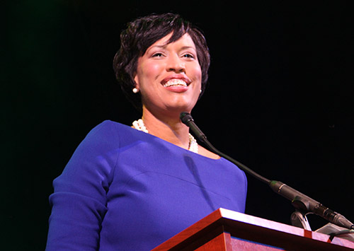 Mayor Muriel Bowser has changed her stance on the disclosure of footage from police-worn body cameras. Jamie Finkelstein | Hatchet Photographer