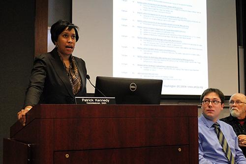 D.C. Mayor Muriel Bowser announced a new task force against robberies in D.C. Wednesday. Jordan McDonald | Hatchet Photographer