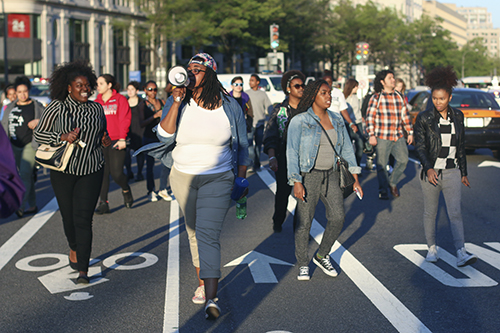 Protesters marched down Pennsylvania Avenue, part of a protest against police brutality. Desiree Halpern | Photo Editor
