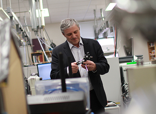 Chemistry professor Akos Vertes developed a new technology called the REDIchip, which he has licensed to Protea Biosciences Group. Hatchet File Photo by Lydia Francis | Hatchet Staff Photographer