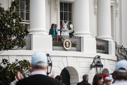 First Lady Michelle Obama opens the 2016 White House Easter Egg Roll alongside President Obama and the Easter Bunny. Desiree Halpern | Photo Editor