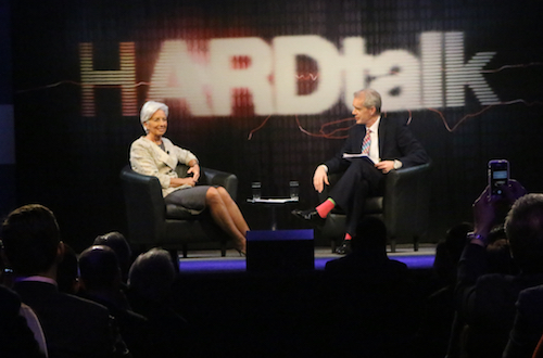 Christine Lagarde, the managing director of the IMF, spoke at GW Thursday. Madeleine Cook | Hatchet Photographer